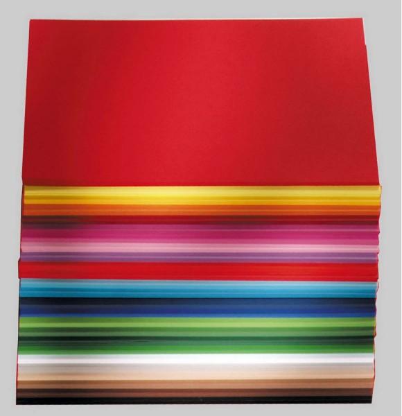 Tonpapier/Naturpapier 130 g/qm, Format A4, 500 Blatt in 25 Farben