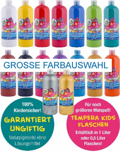 "JOLLY SUPER TEMPERA FLÜSSIGFARBE ""KIDS MIX"" 1 Liter"