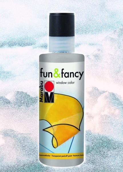 Window Color Fun & Fancy von Marabu, Konturenfarbe silber, 80 ml
