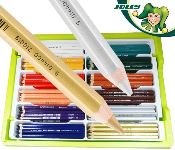 Jolly X-BIG Dickkernbuntstifte 180 Stück in den 12 Ergänzungsfarben