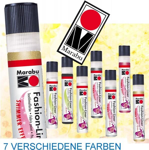 Fashion Textil-Liner von Marabu, 25 ml, Preis pro Stück