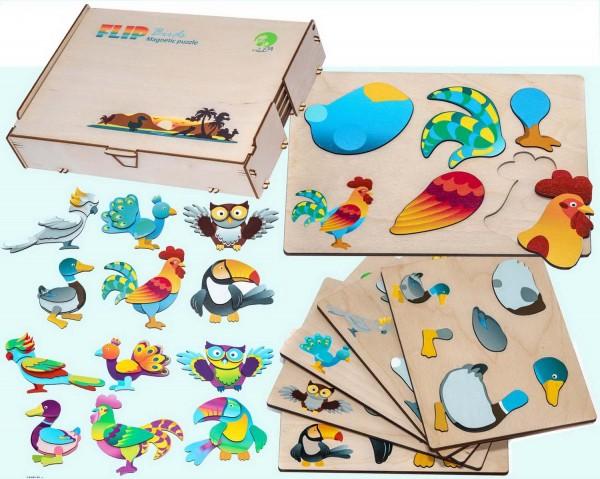 """Puzzle magnetisch, Motiv """"Vögel"""""""