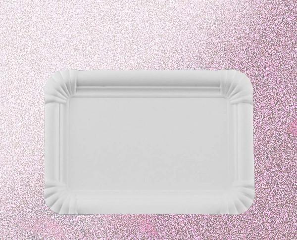 Bastel-Pappteller weiß, unbeschichtet, viereckig
