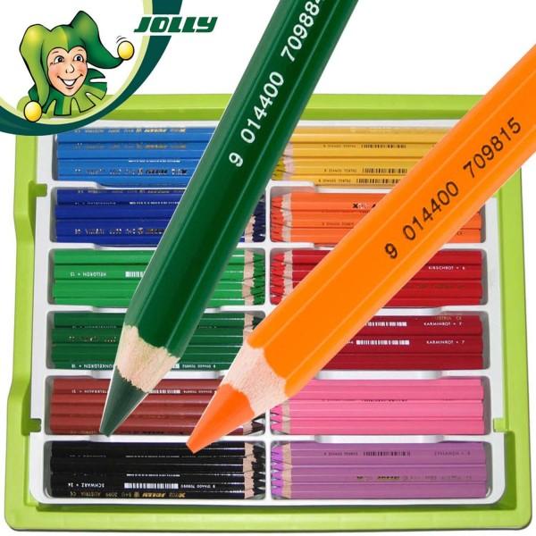 Jolly X-BIG Dickkernbuntstifte 180 Stück in den 12 Standardfarben