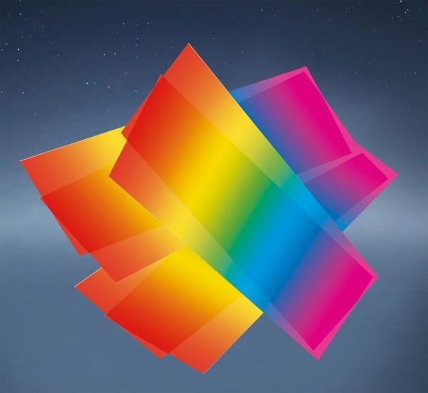 Laternenzuschnitt mit Regenbogendruck, 100 g/qm, 22 x 51 cm, 25 Blatt