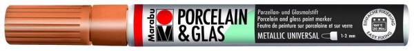 Metallic Porcelain-Painter von Marabu, Porzellan- und Glasmalstift 1-2 mm, Preis pro Stück