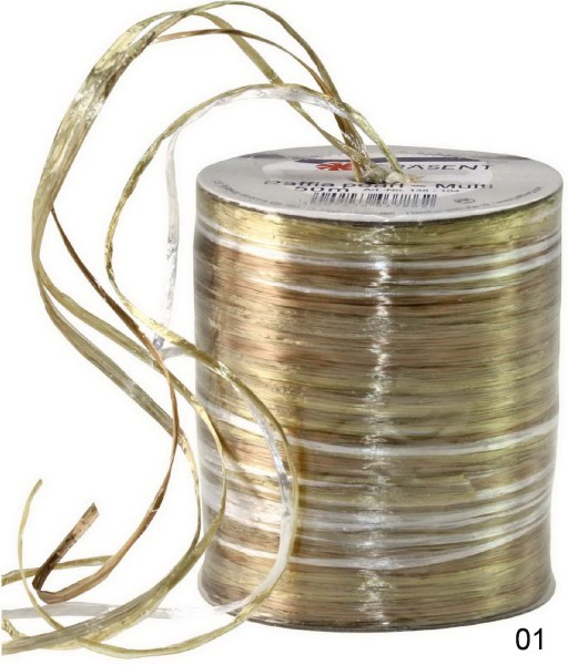 Bast Raffia Pearl Multicolor, Preis pro Spule