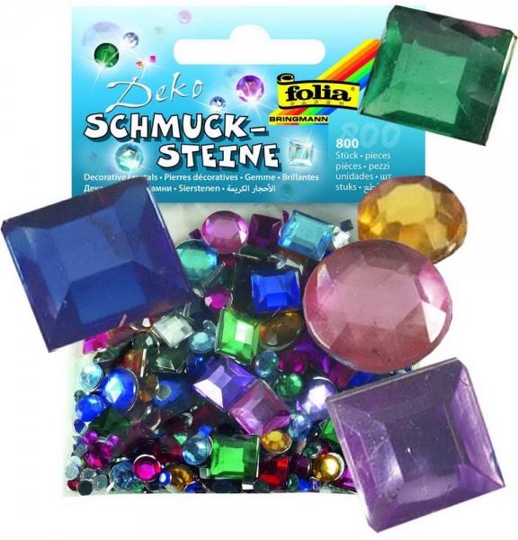Schmucksteine, diverse Formen und Farben