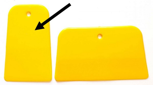 Spachtel gelb, Kunststoff, verschiedene Breite