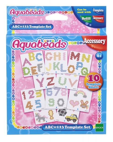 Zubehör für Aquabeads: Motivvorlagen ABC und 123...