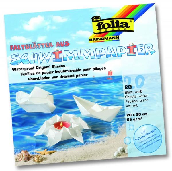 Schwimmpapier wasserfest, Format 20 x 20 cm, 20 Blatt
