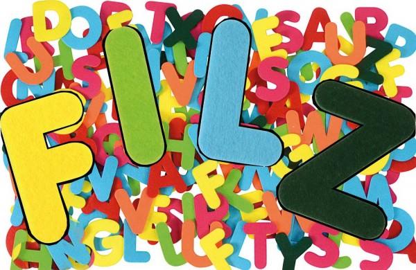 Filzbuchstaben Mega, Stärke 3 mm, Höhe 8 cm, 150 Stück