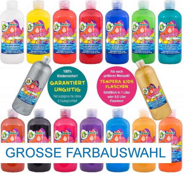 "JOLLY SUPER TEMPERA FLÜSSIGFARBE ""KIDS MIX"" 0,5 Liter"