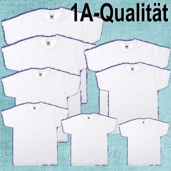 T-Shirt weiß, 100 % Baumwolle 160 g/qm