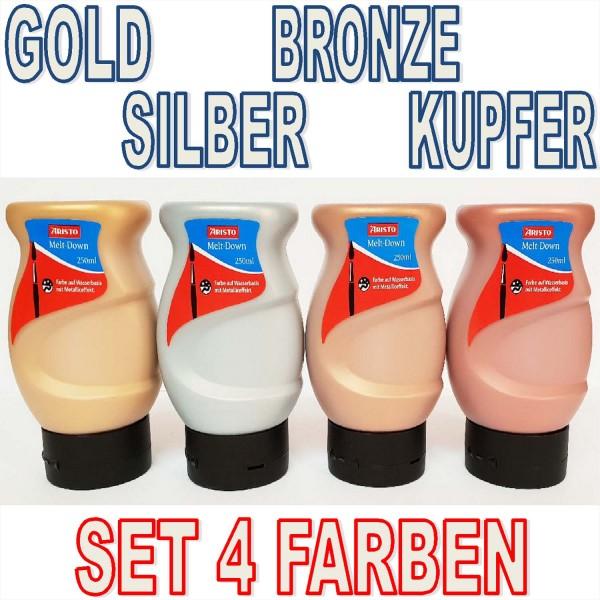 Melt Down Metallicfarben SET mit allen 4 Farben je 250 ml