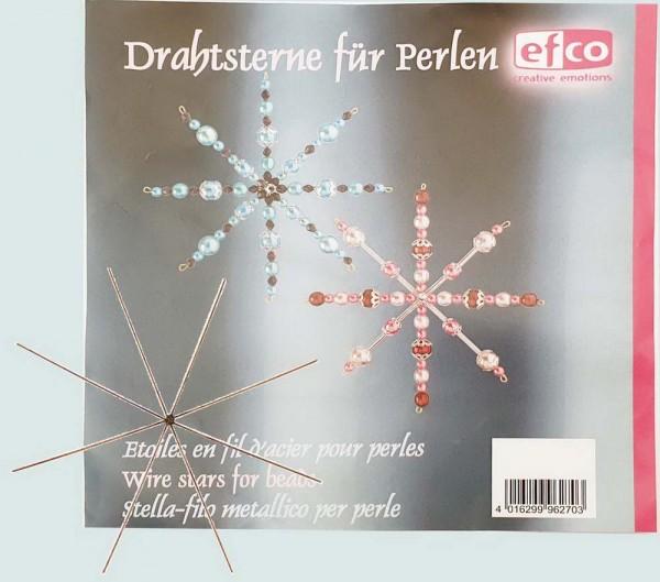Drahtsterne für Perlen, 8-strahlig