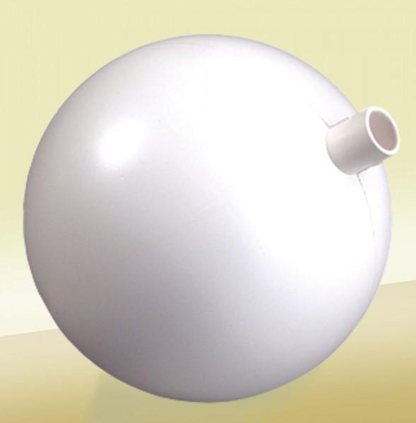 Kunststoffkugel weiß mit Stutzen