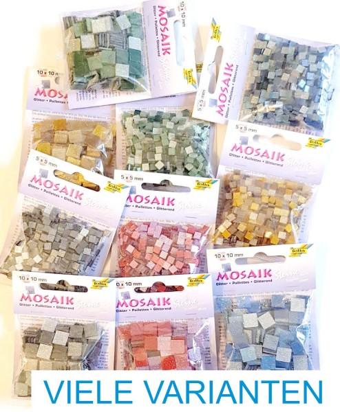 Mosaiksteine Glitter-Mix, 2 verschiedene Größen, Preis pro Packung