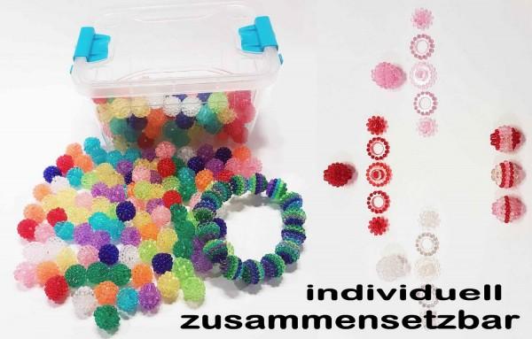 Plast Zauberperlen, individuell zusammensetzbar, Plastikdose mit 200 g