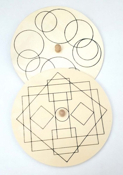 Scheibenkreisel aus Holz mit Motivaufdruck, sortiert, Durchmesser 13 cm, Preis pro Stück