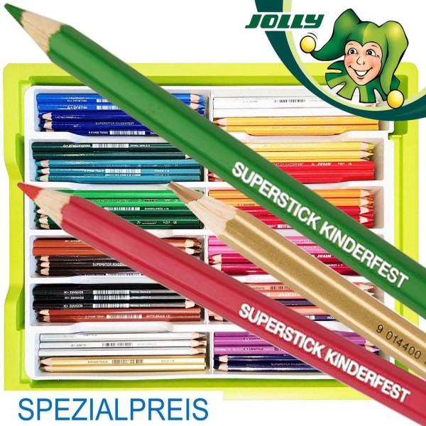 Trendline Spezial-Sortierung Jolly Kinderfest Buntstifte 240 Stück in 24 Farben inkl. Box