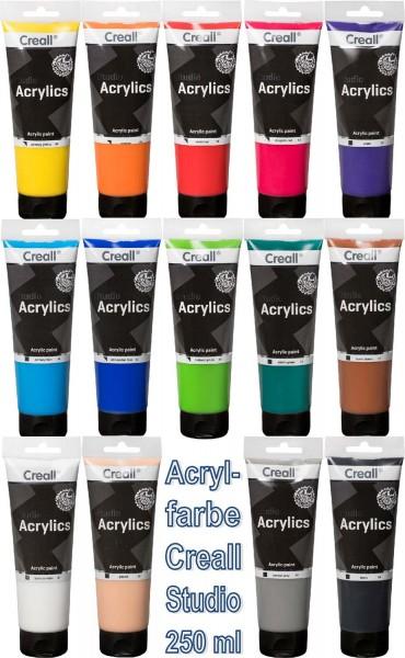 Acrylfarbe Creall Studio SET mit 14 Farben, 250 ml Tube pro Farbe