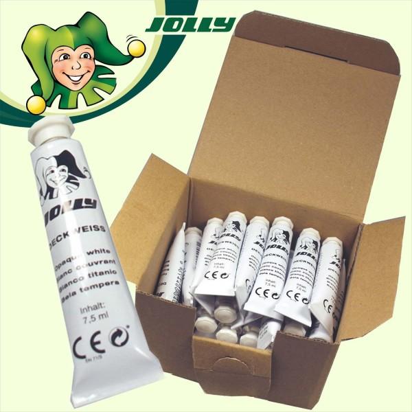 Deckweiß-Tube von Jolly, Packung mit 30 Stück je 7,5 ml