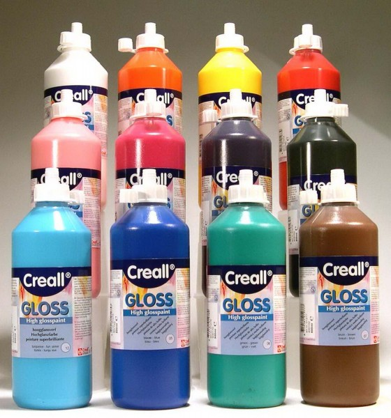 Creall Gloss Sonnenglanzfarbe SET mit allen 12 Farben je 500 ml