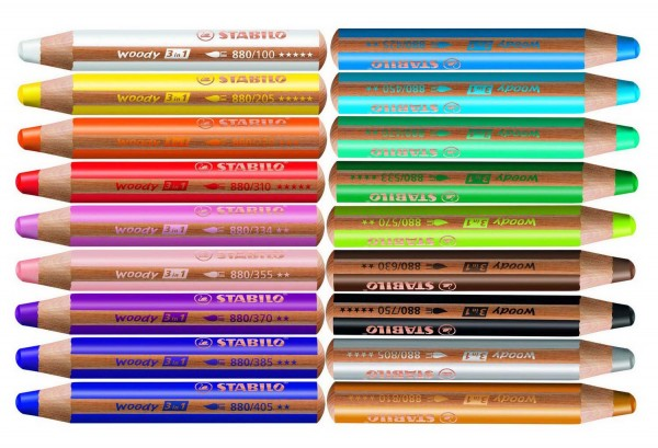 Woody von Stabilo, 5 Stück in einer Farbe