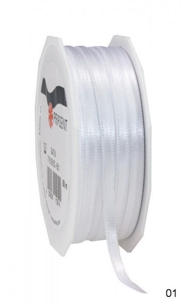 Satinband Breite 6 mm, Länge 50 m, Preis pro Rolle