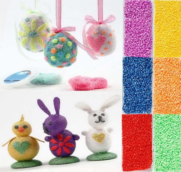 Foam Clay Metallic Knetmasse, 6 x 14 g, je 1 x rot, blau, violett, grün, orange, gelb