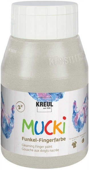 Mucki Funkel-Fingerfarbe im Metallic-Look von Kreul, 500 ml