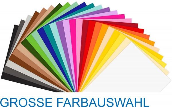 Folia Tonkarton 220 g, Format 50 x 70 cm, je 10 Bögen einer Farbe, 31 verschiedene Farben