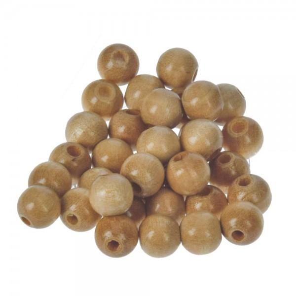 Holzperlen, Durchmesser 8 - 14 mm mit Bohrung