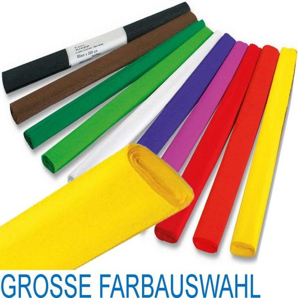 Krepp-Papier von Folia, 10 Rollen pro Farbe, Rolle mit 50 cm x 250 cm, 18 Farben