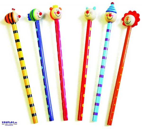 Bleistift mit Tierkopf, Preis pro Stück sortiert