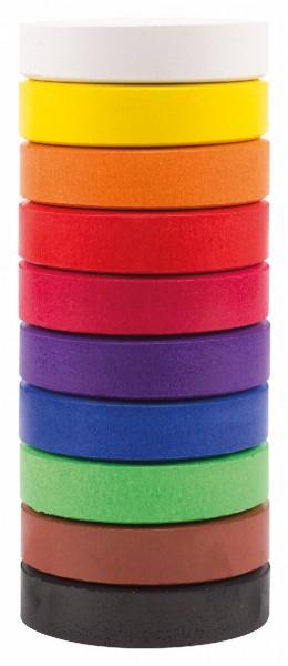 Wasserfarben-Blocks 55 mm, 10 Farben sortiert