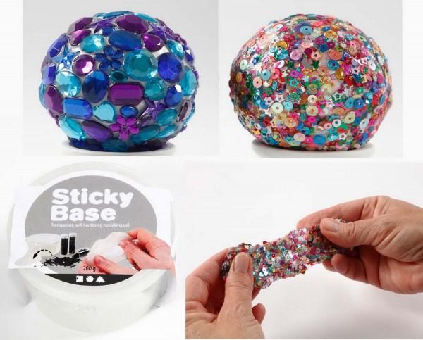 Sticky Base, transparentes, selbsthärtendes Modellier- und Klebegel, 200 g Dose