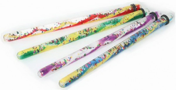 Zauberstab zwei-farbig gedreht, 4 Stück in vier verschiedene Farben sortiert