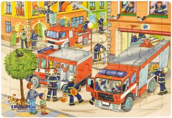 Puzzle Feuerwehr, Material: Karton, 45 x 30 cm, 35 Teile