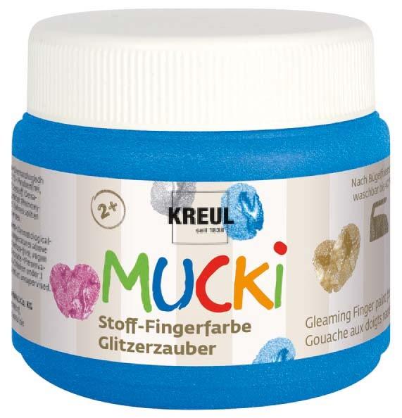Mucki Stoff-Fingerfarben Glitzerzauber von Kreul, 150 ml Dose