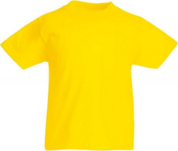 T-Shirt gelb, 100 % Baumwolle 160 g/qm