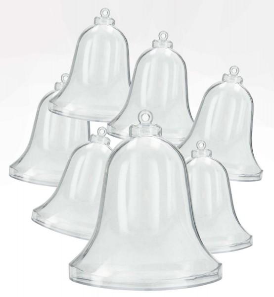 Acrylglas-Glocke glasklar, 70 mm, 30 Stück