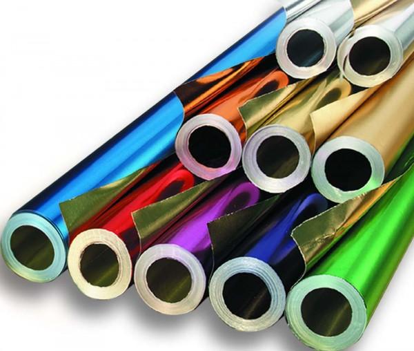 Alu-Folie doppelseitig kaschiert, Rolle mit 50 cm x 10 m