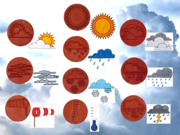 Riesenstempel Wetter, 10 Stück