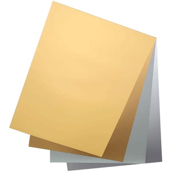 Tonpapier/Naturpapier 130 g/qm von Folia, Format A3 SONDERFARBEN, 50 Blatt einer Farbe