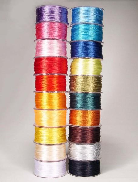 Satinkordel SET 1,5 mm, je 50 m, in 20 verschiedenen Farben