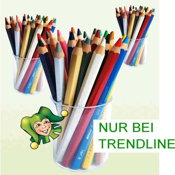 Jolly X-BIG Dickkernbuntstifte in der Runddose, 25 Stifte in 25 Farben
