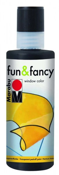 Window Color Fun & Fancy von Marabu, Konturenfarbe schwarz, 80 ml