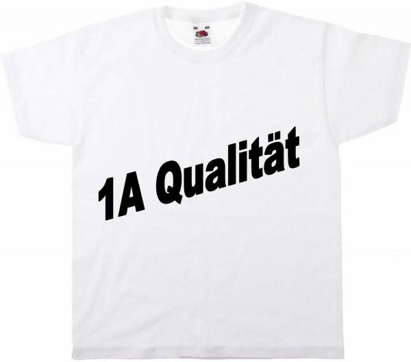 T-Shirt weiß 100 % Baumwolle